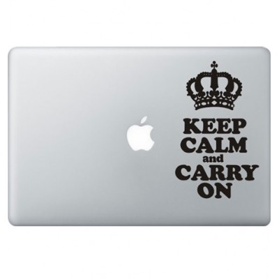 Keep Calm Macbook Decal