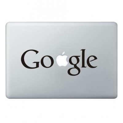 Google Logo Macbook Decal Black Decals