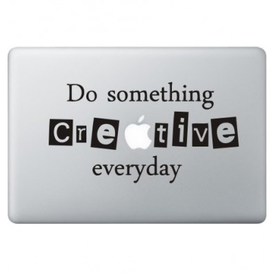 Creative Macbook Decal Black Decals