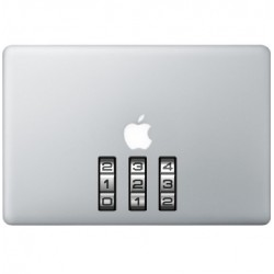 Lock Numbers Macbook Decal