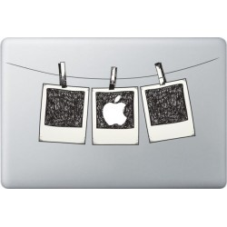 Polaroid photo Macbook Decal