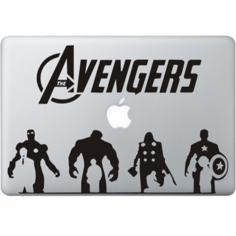 The Avengers (2) MacBook Decal Black Decals