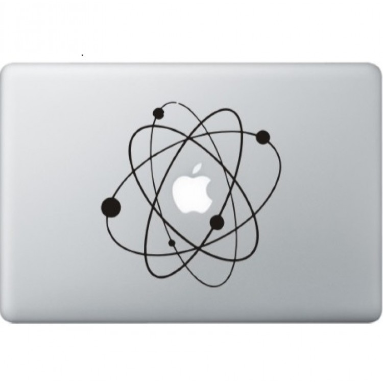Atoms (2) MacBook Decal Black Decals