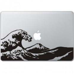 Beyond the Great Wave MacBook Sticker