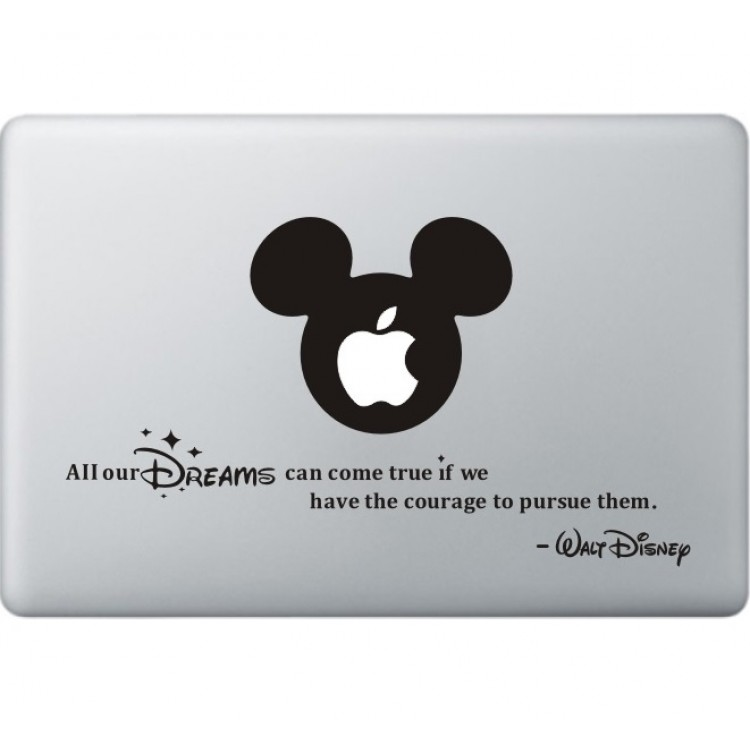 All Your Dreams - Walt Disney MacBook Decal Black Decals