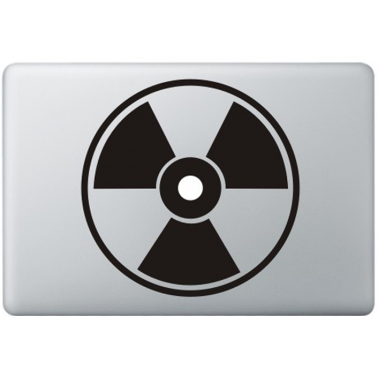 Nuclear hazard Macbook Decal Black Decals