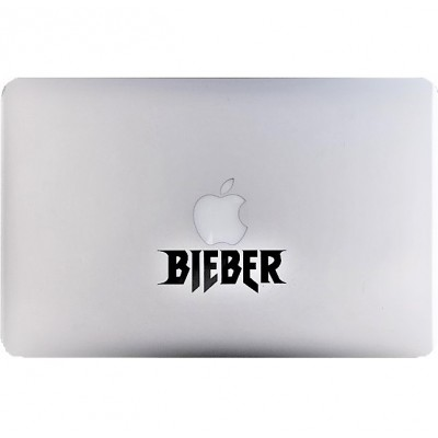Bieber Macbook Decal Black Decals