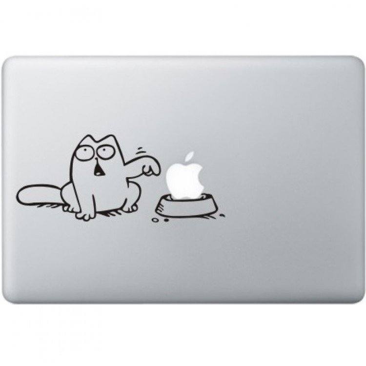 Simon's Cat MacBook Decal Black Decals