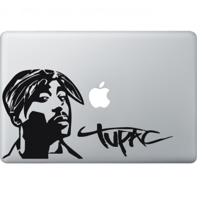 Tupac Shakur Macbook decal