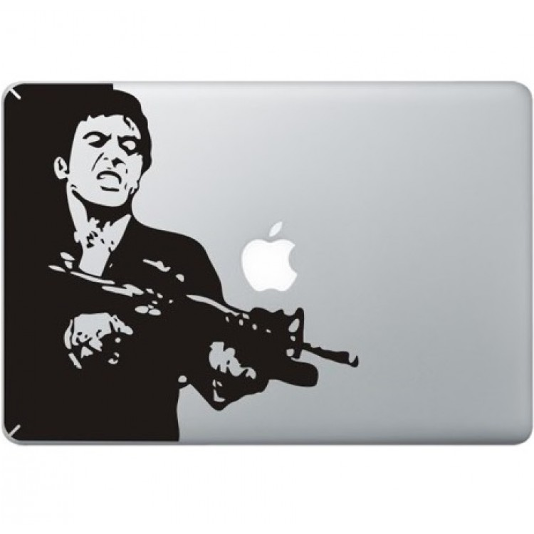 Scarface MacBook Decal Black Decals