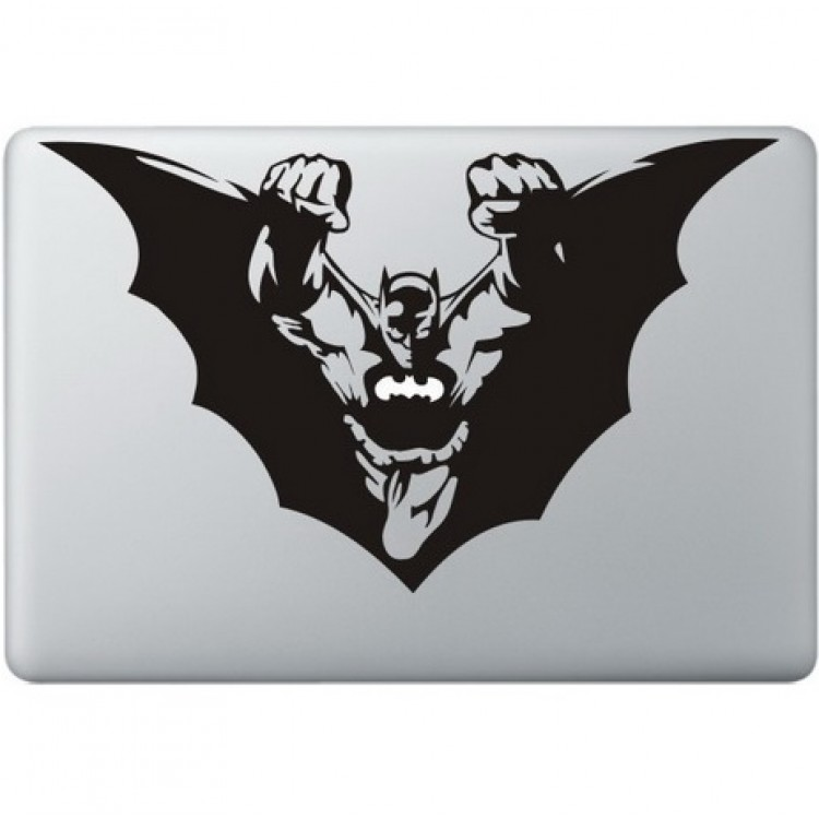 Batman Flying Macbook Decal Black Decals