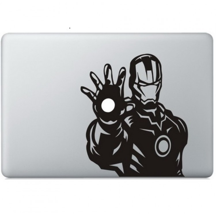 Iron Man (6) Macbook Decal Black Decals