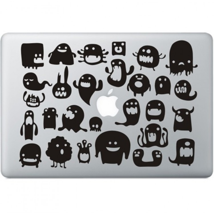 Doodle Monsters Macbook decal