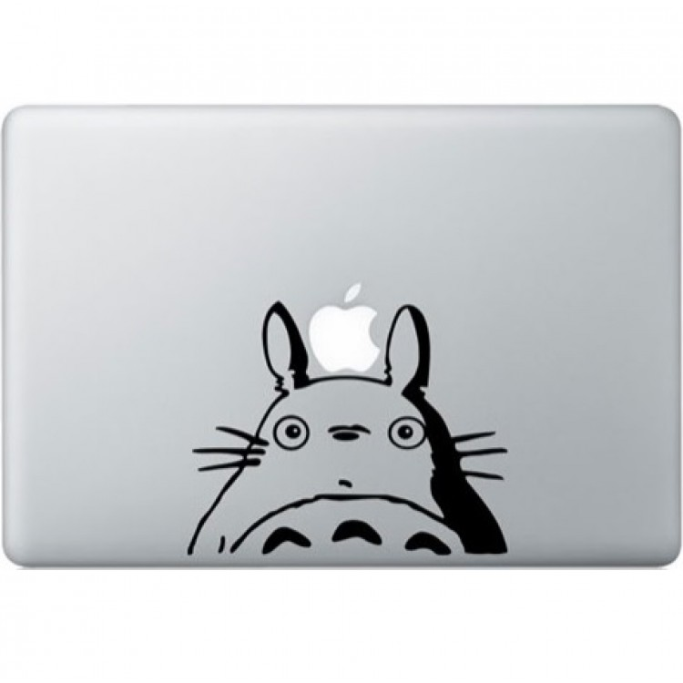 Totoro MacBook Decal Black Decals