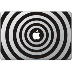 Circle Print Macbook Decal