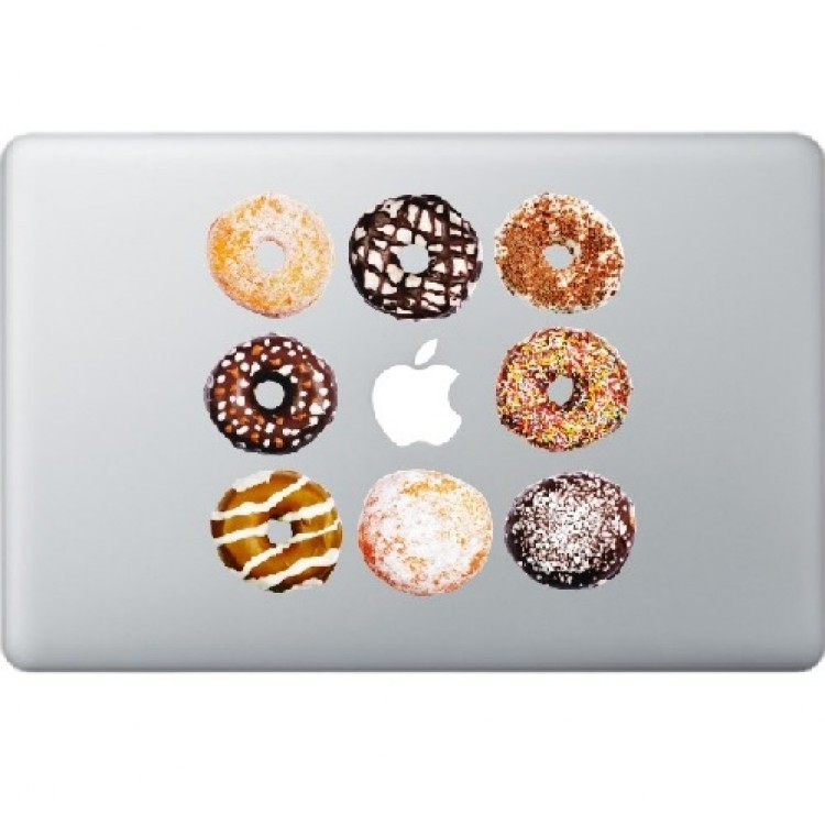 Donuts Macbook Decal Full Colour Decals