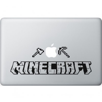 Minecraft Macbook Decal