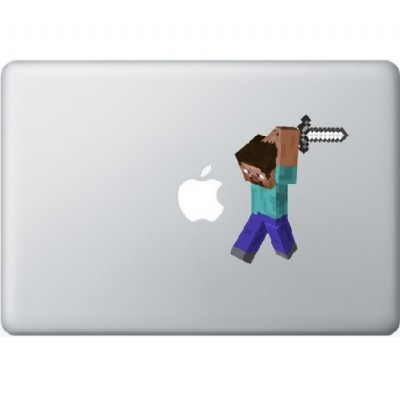 Minecraft Man Macbook Decal