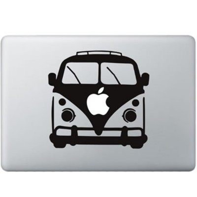 Volkswagen Van MacBook Decal Black Decals