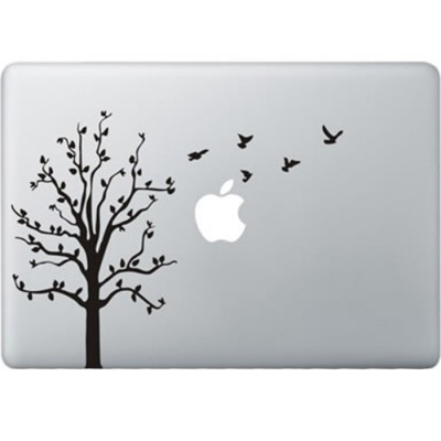 Tree with Birds MacBook Decal
