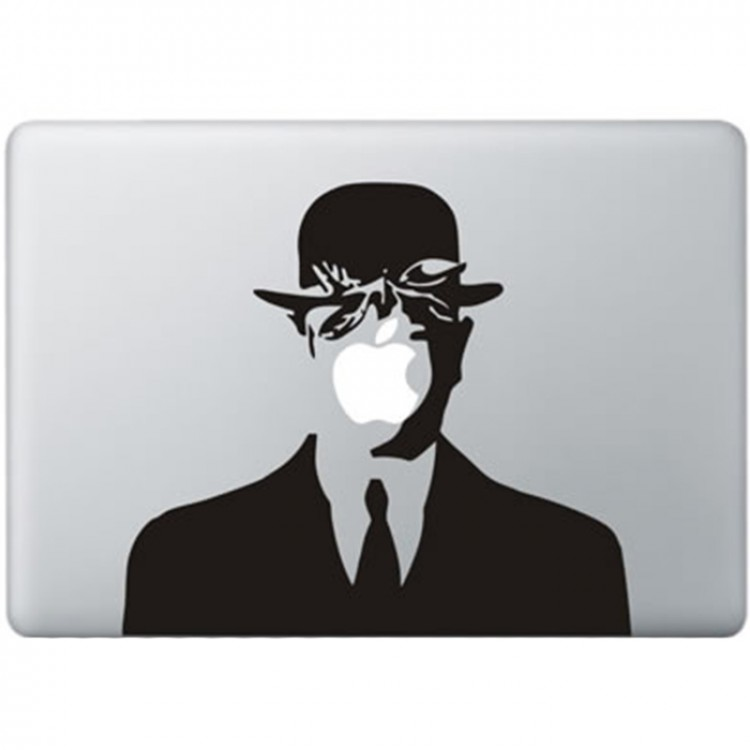 Magritte MacBook Decal Black Decals