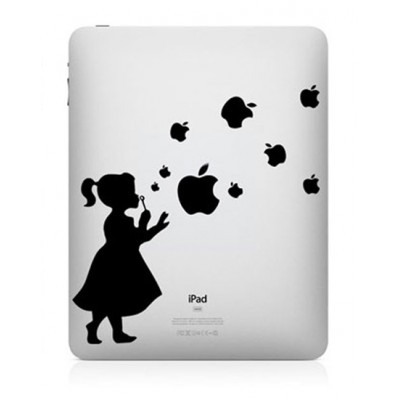 Girl With Bubbles iPad Decal