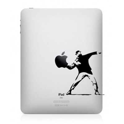 Bansky Throwing Flowers iPad Decal iPad Decals
