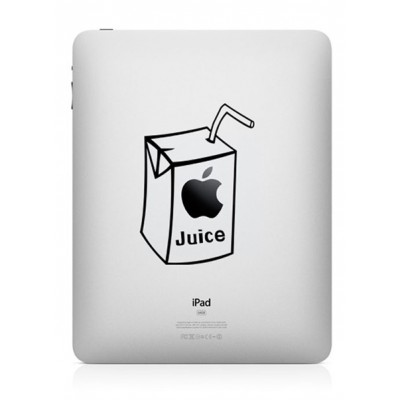 Apple Juice (2) iPad Decal