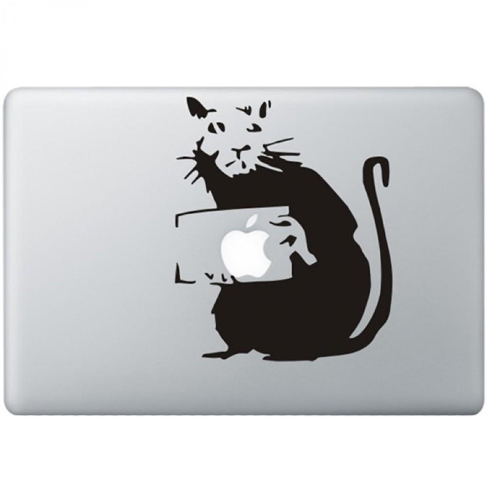 Banksy rat macbook decal kongdecals macbook decals for Banksy rat mural