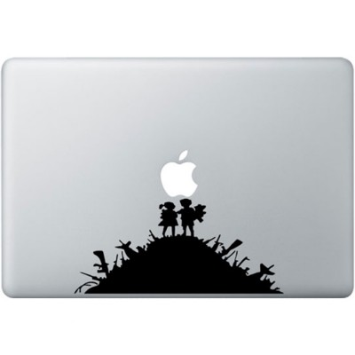 Banksy Kids MacBook Decal Black Decals