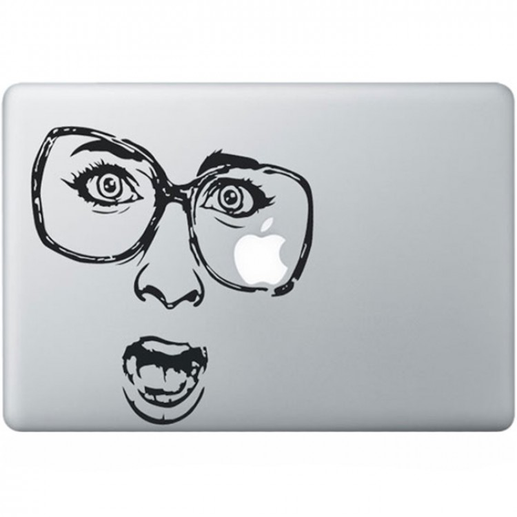 Shocked MacBook Decal Black Decals