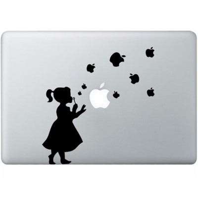 Girl With Bubbles MacBook Decal