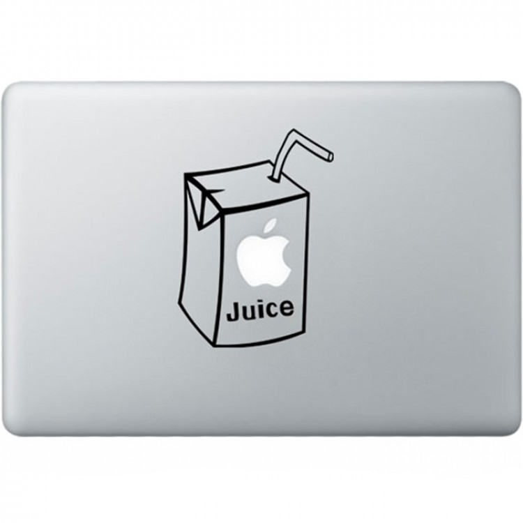 Apple Juice MacBook Decal Black Decals