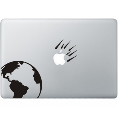 Asteroids MacBook Decal
