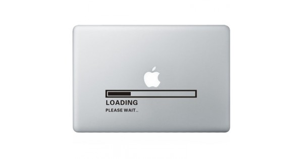 Apple loading macbook decal kongdecals macbook decals for Apple product book