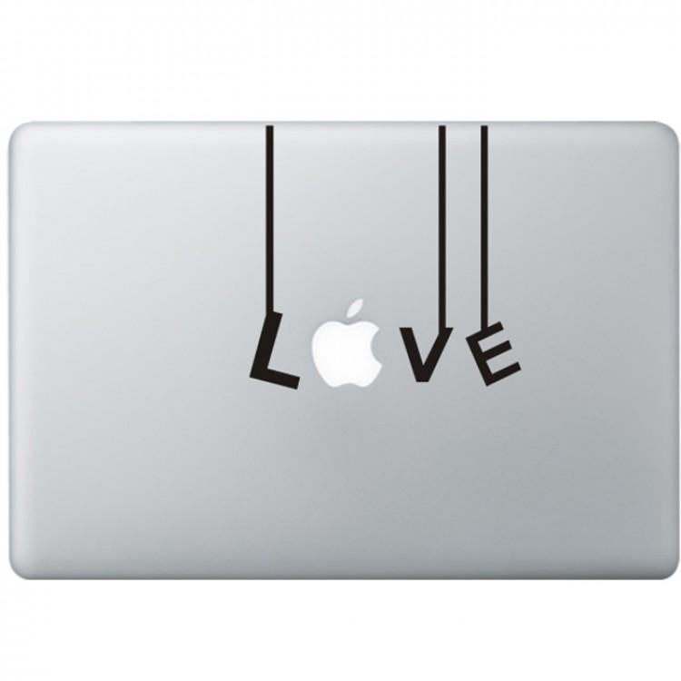 Love (2) MacBook Decal Black Decals