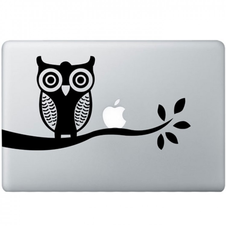 Owl MacBook Decal Black Decals