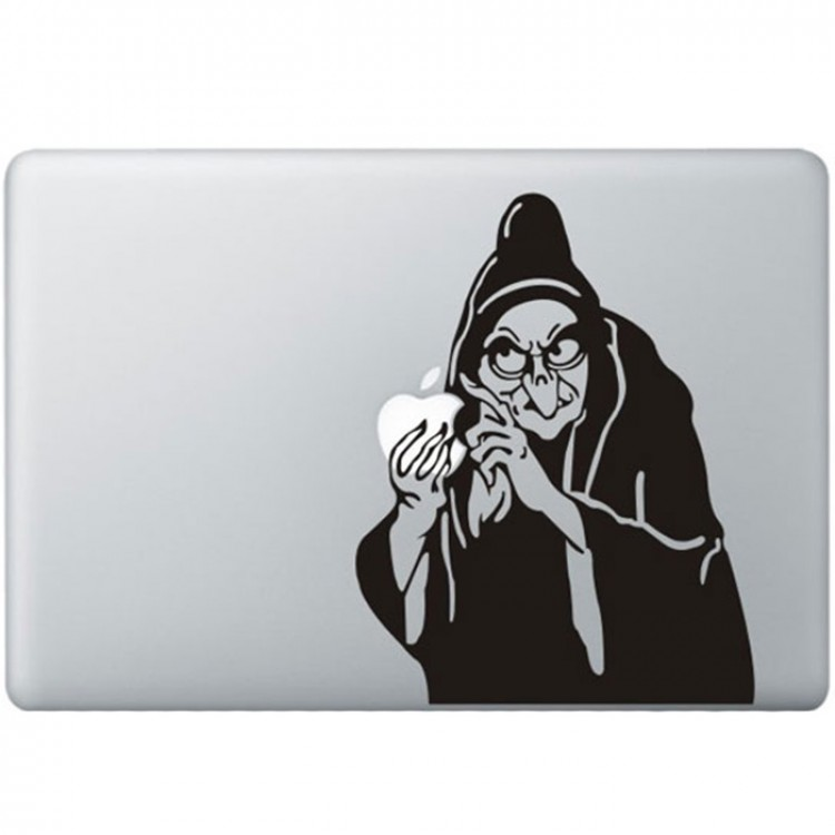 Snow White Witch MacBook Decal Black Decals