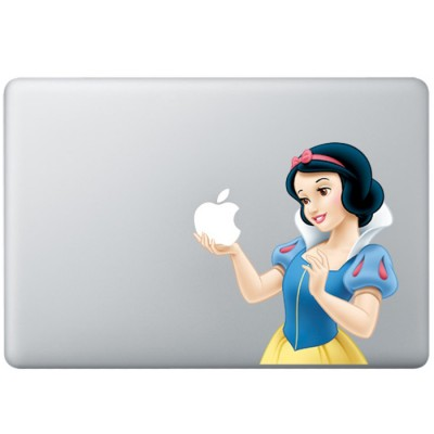 Snow White Animated Colour MacBook Decal