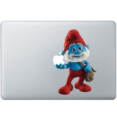 Dad Smurf Colour MacBook Decal Full Colour Decals