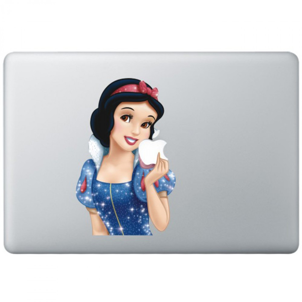 Snow white animated 2 colour macbook decal