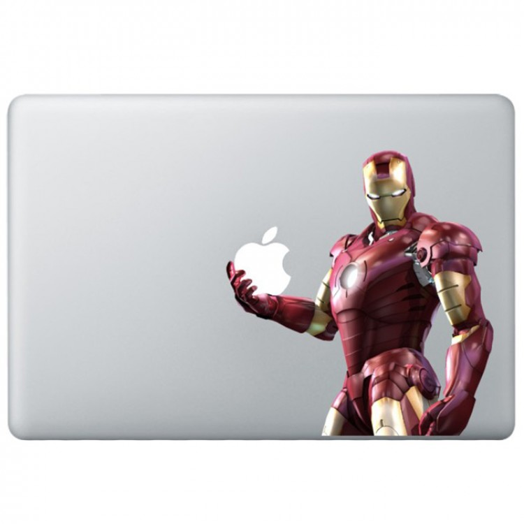 Iron Man (3) Colour MacBook Decal Full Colour Decals