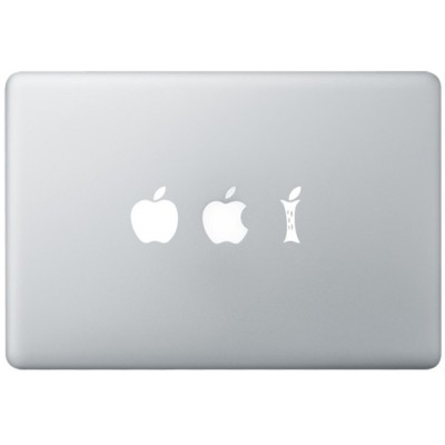 Eating Apple MacBook Decal