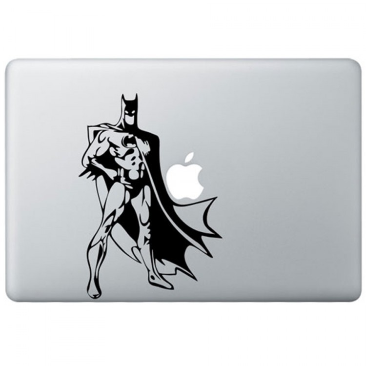 Classic Batman MacBook Decal Black Decals