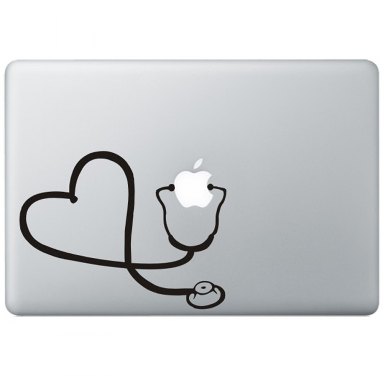Dr. Apple MacBook Decal Black Decals