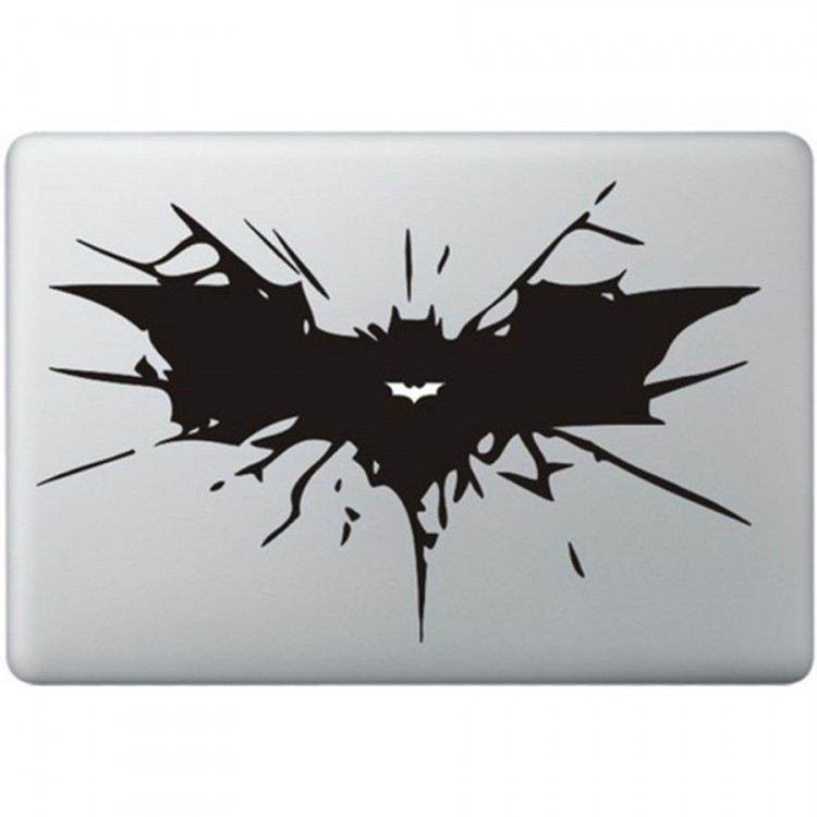 Batman Logo MacBook Decal Black Decals