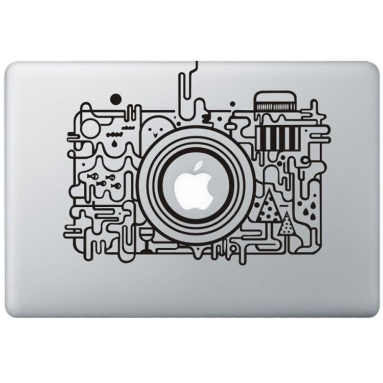 Apple Camera MacBook Decal Black Decals