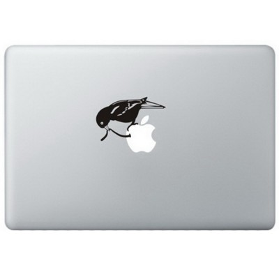 Early Bird MacBook Decal Black Decals