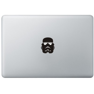 Stormtrooper Mask MacBook Decal Black Decals