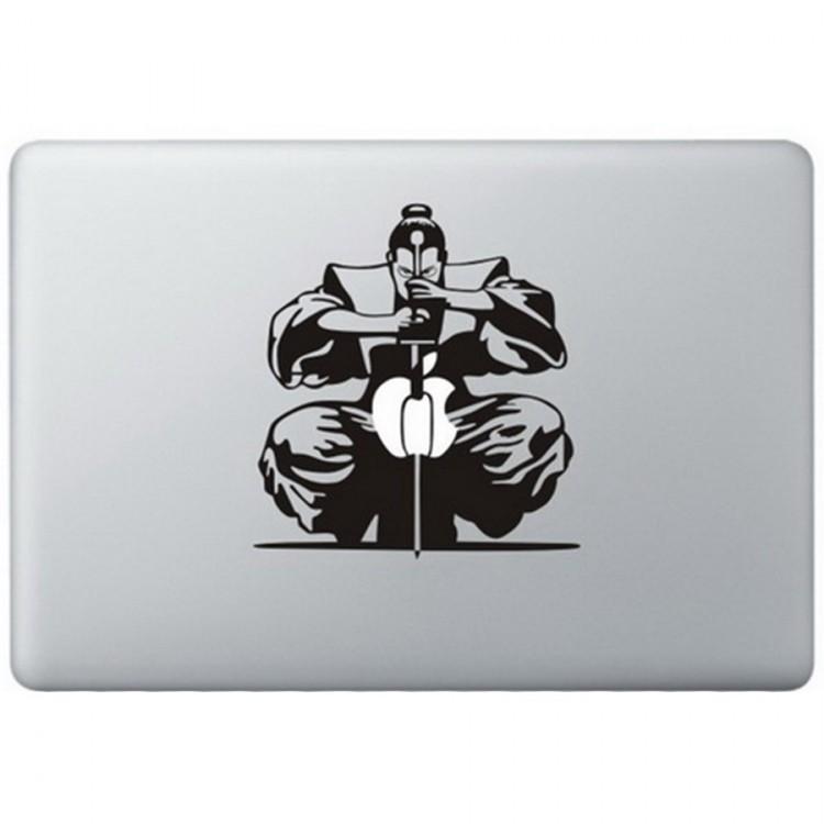Samurai MacBook Decal Black Decals